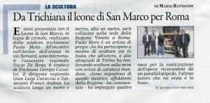 Paolo Moro Da Trichiana il leone di S.Marco per Roma 300x148