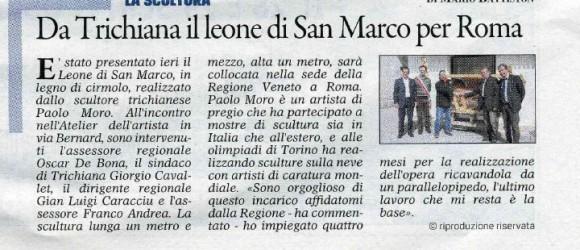 Paolo Moro-Da Trichiana il leone di S.Marco per Roma