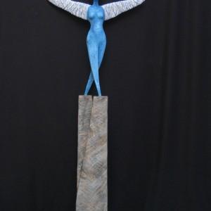 Paolo Moro Il Volo. Legno di cirmolo e corda 300x300