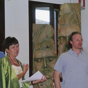 Paolo Moro Mostra Villa Orsini 2007 io con La Dott.ssa Lidia Mazzetto1 300x300