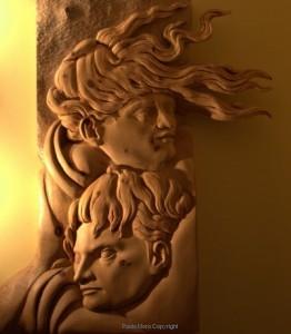 Paolo Moro Omaggio a Michelangelo legno di cirmolo 262x300