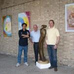 Scultore Paolo Moro. Mostra Chiostro San Francesco Tv con gli amici pittori Piergiorgio Gasparotto e Eros Cazzaro anno 2008 150x150
