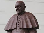 Scultore Paolo Moro. Scultura di Cioccolata del Papa Francesco