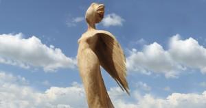 Scultore Paolo Moro. Scultura in Legno di Platano. Titolo Verso il cielo Anno 2008 300x158