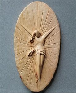 Scultore Paolo Moro. Sculture opere sacre. Cristo in legno di cirmolo anno 2013 246x300