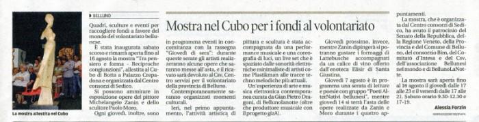 Corriere delle Alpi Mostra nel Cubo e1406290553935