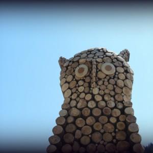 Trono Gufo. Land Art. Melere Trichiana anno 2013 300x300