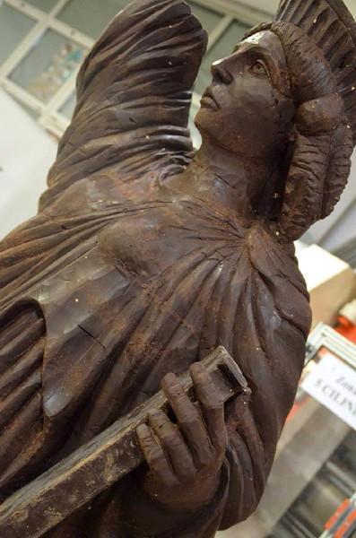 Particolare Statua della Libertà. Cioccolata Anno 2015