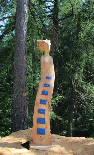 I segreti del bosco. Legno di larice e colore Anno 2018