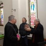 Paolo Moro Inaugurazione Mostra Giotto Bolzano Bellunese da sx il Vescovo Andrich Monsignor Mazzorana io e Prof Fillipetti1 150x150