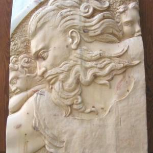 Paolo Moro Omaggio a Michelangelo Legno di cirmolo 300x300