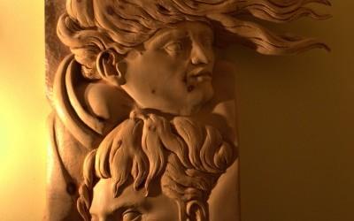Paolo Moro Omaggio a Michelangelo legno di cirmolo