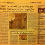 Paolo Moro Papa Francesco statua cioccolato 150x150