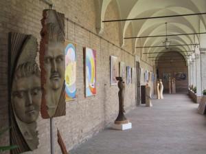Scultore Paolo Moro. Mostra Chiostro San francesco anno 2008 Treviso 300x224