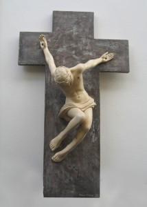Scultore Paolo Moro. Sculture opere sacre. Titolo cristo legno di cirmolo anno 2007 214x300